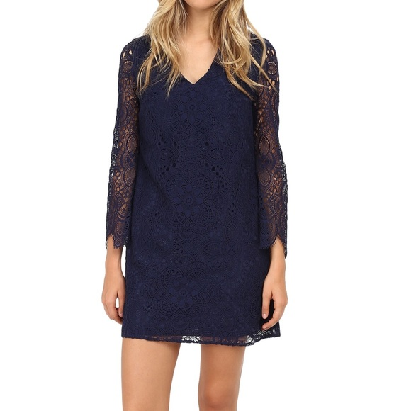 NWT Lilly Pulitzer Felicity Lace Dress in Navy